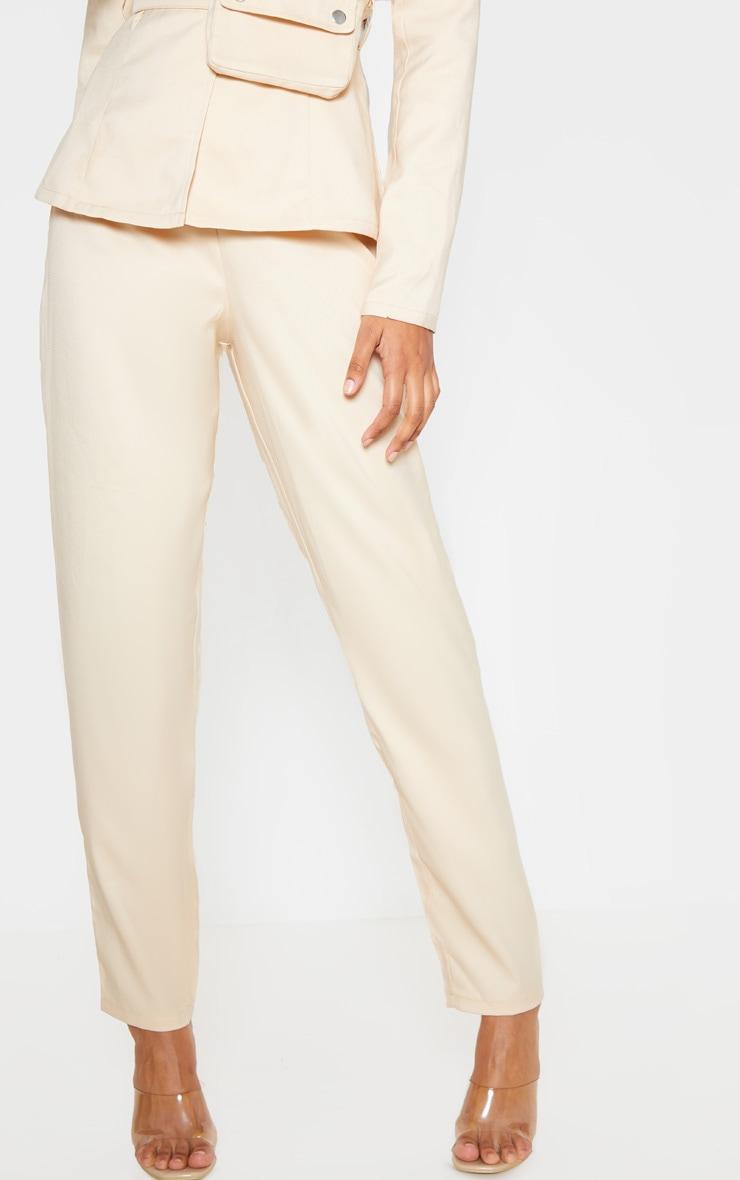 Stone Woven Straight Leg Pants 2