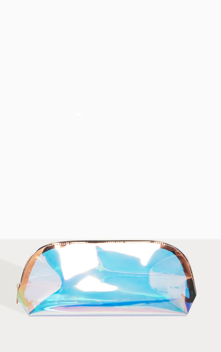 PRETTYLITTLETHING Large Holographic Makeup Bag 1