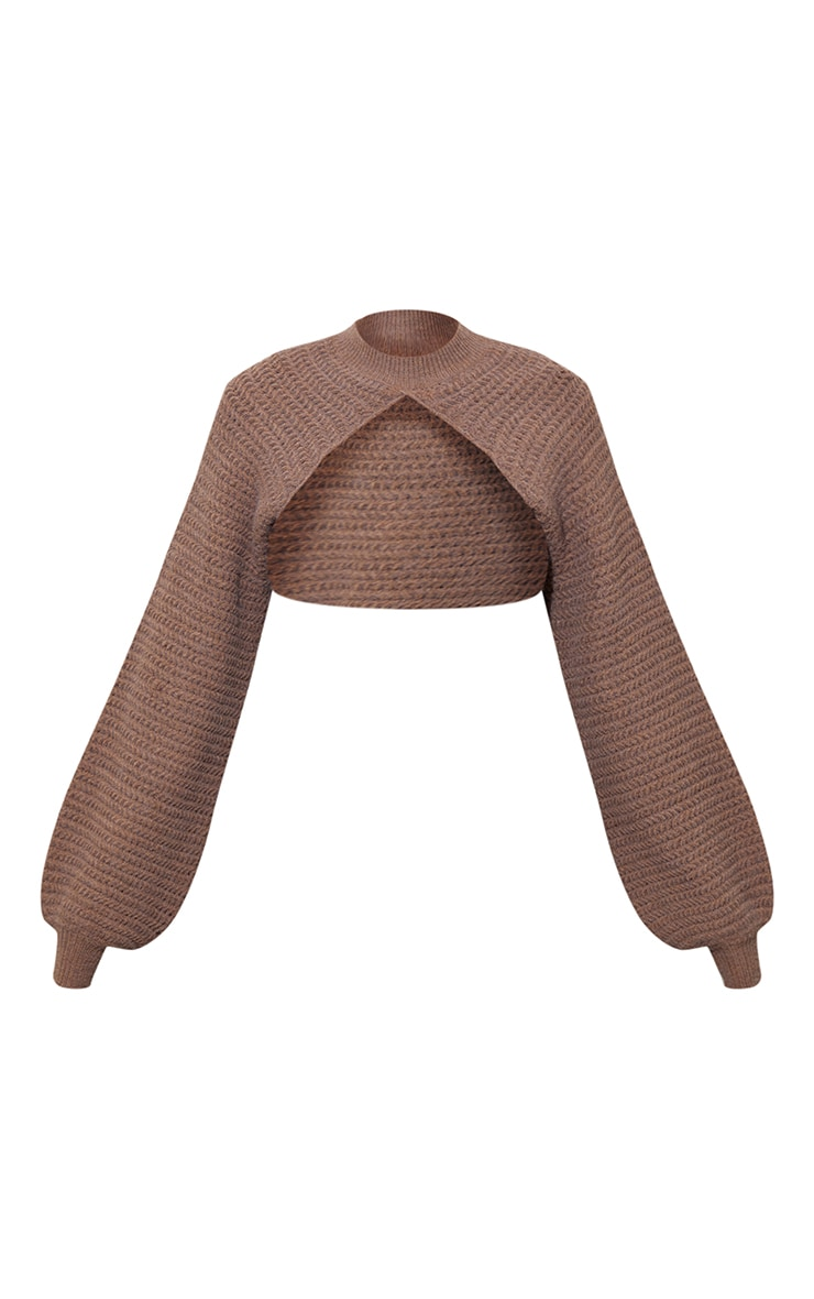 Mocha Stitch Detail Knitted Sleeves 5