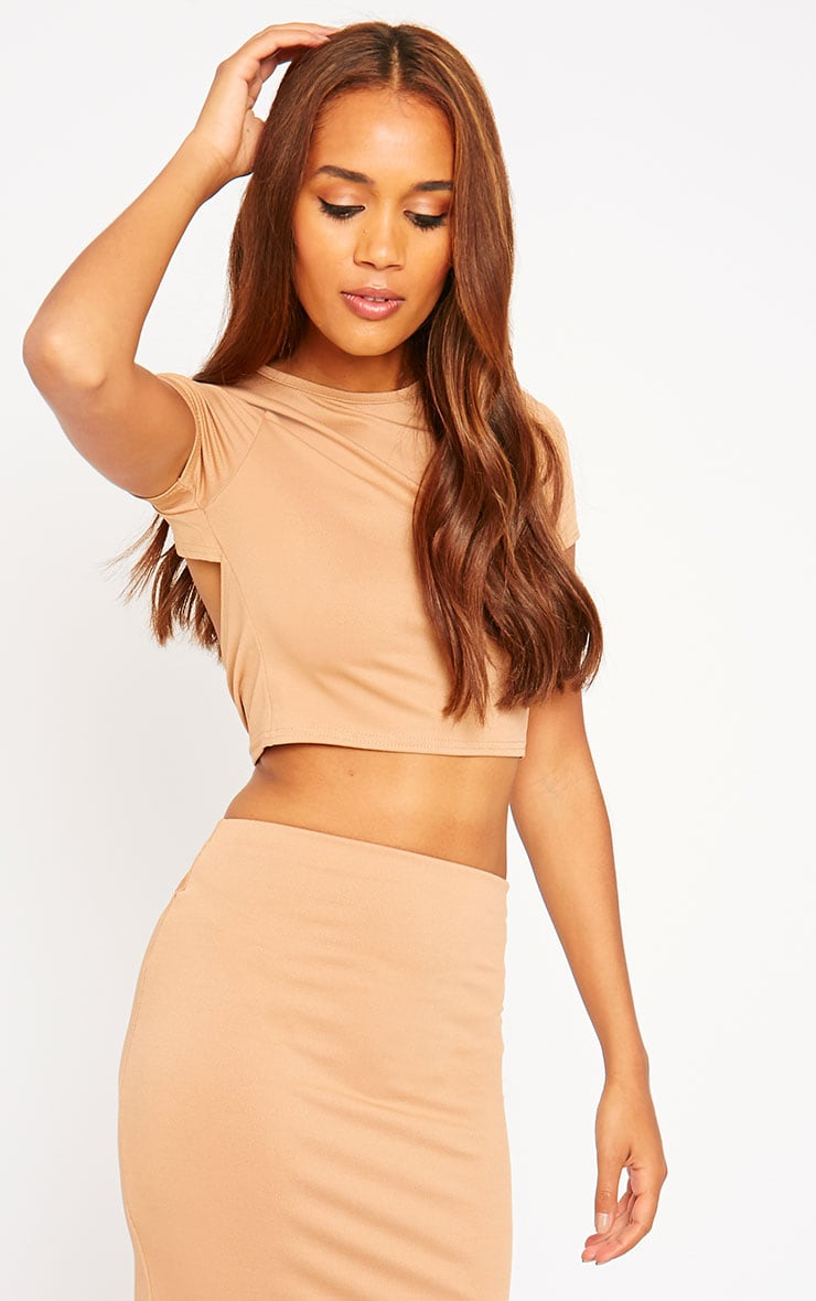 Klarisa Camel Tie Back Top 1