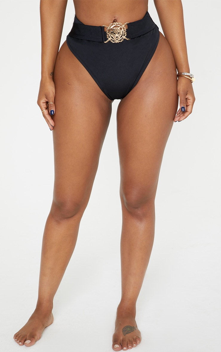 Shape Black Lion Trim Bikini Bottom 4