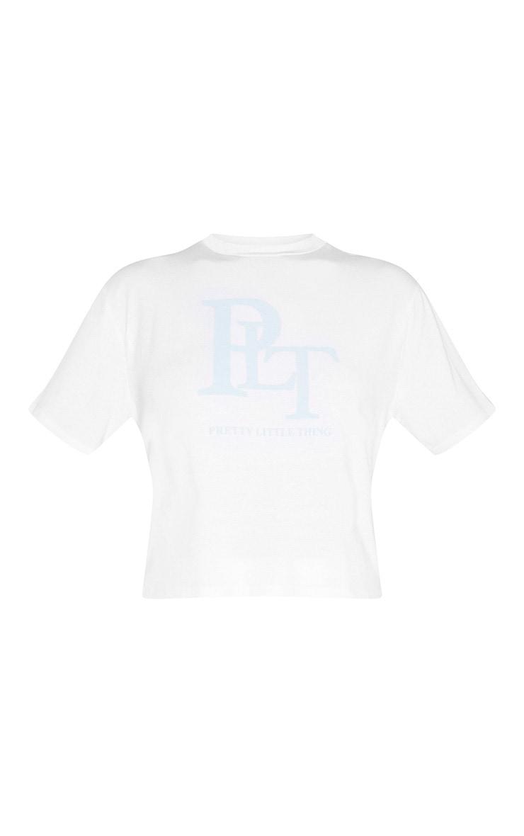 PRETTYLITTLETHING Tall - T-shirt blanc à col ras-du-cou 3
