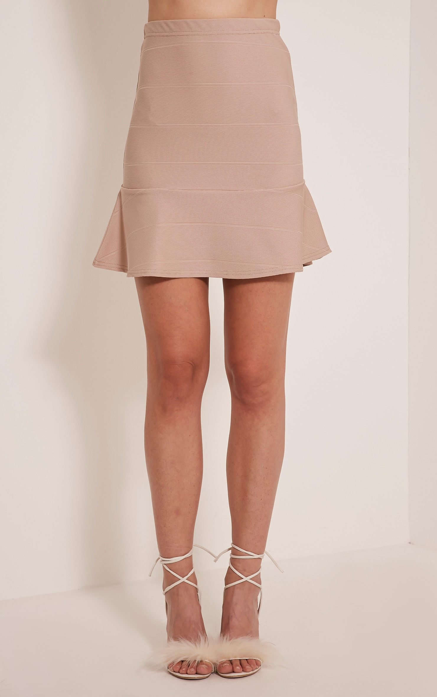 Addy Stone Bandage Flippy Hem Mini Skirt 2