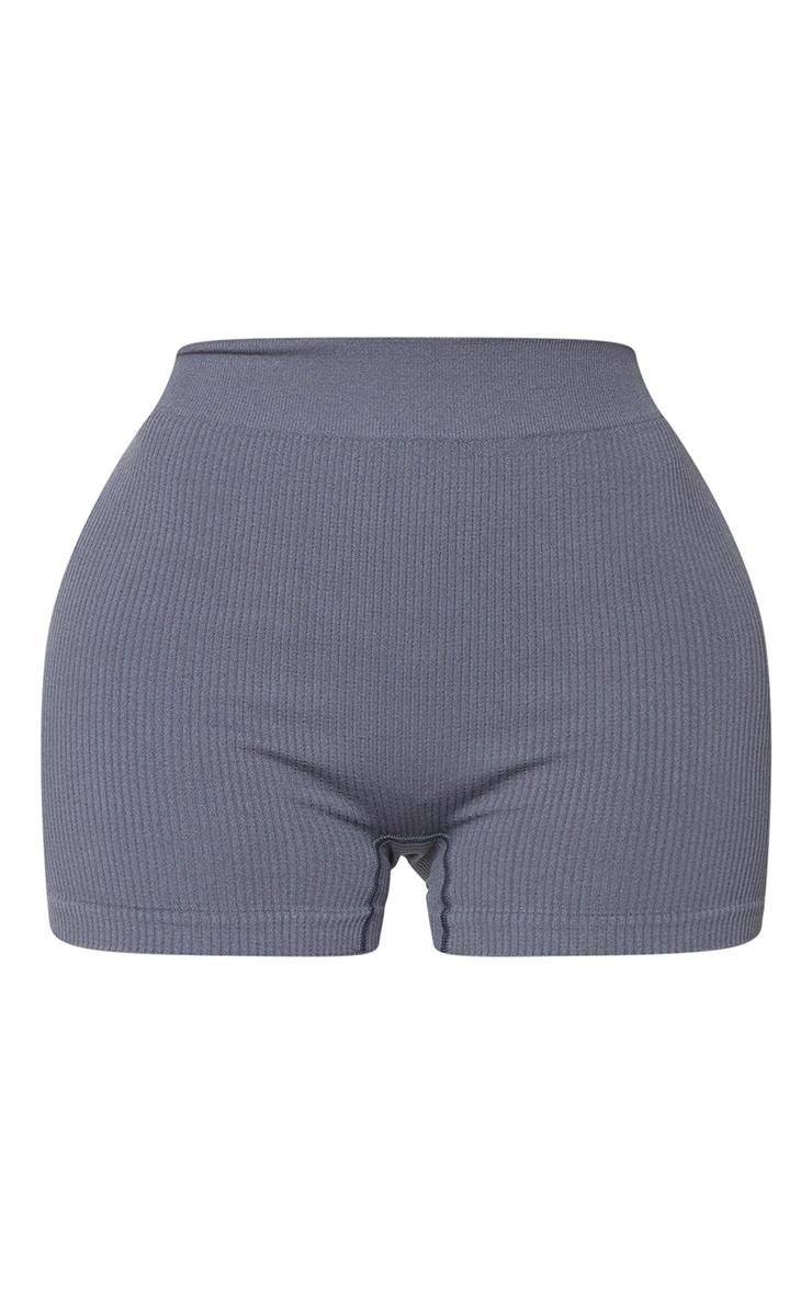 Shape Charcoal Contour Rib Shorts 6