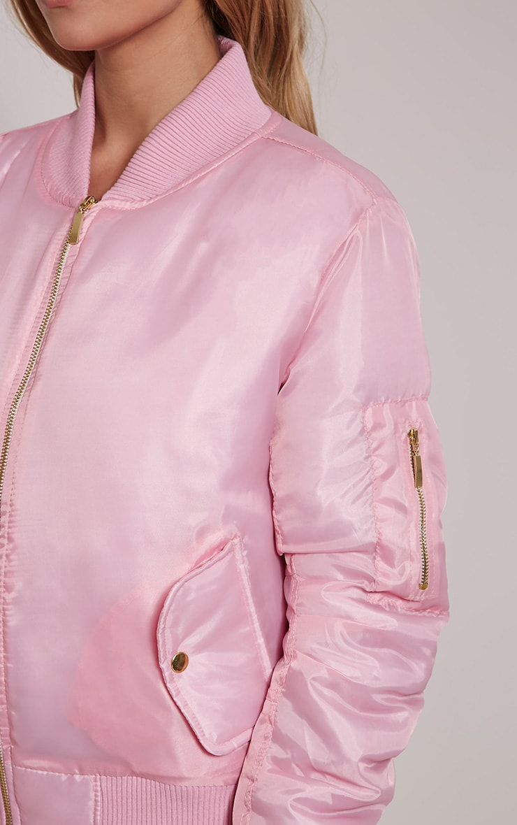 Alexus Pink Bomber Jacket 6