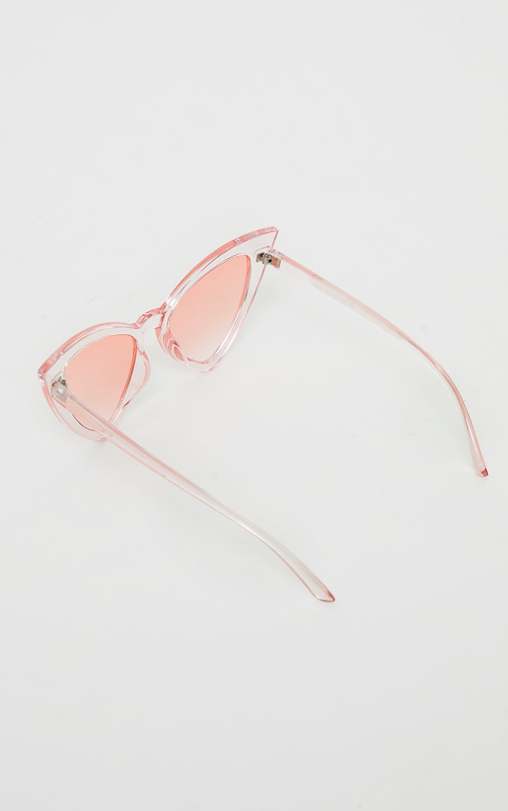 Pink Ombre Extreme Cat Eye Sunglasses 3