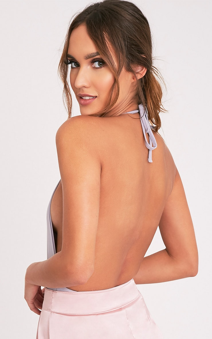 Angelika body dos nu col montant gris 6