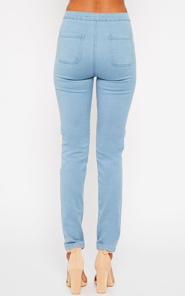 Jenna Light Blue Wash High Waist Jeans 4