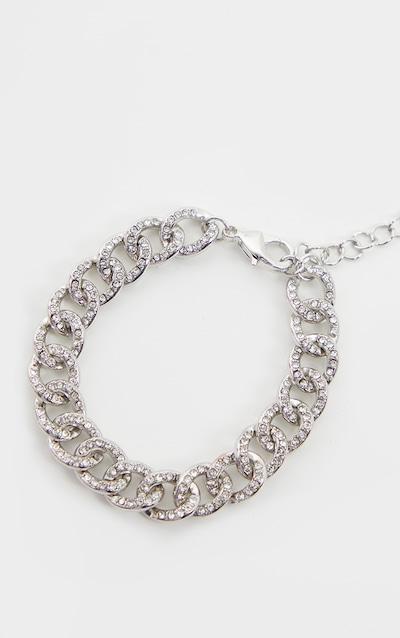 Silver Link Diamante Bracelet