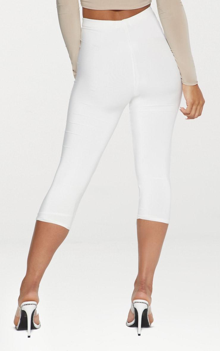 White Slinky Cropped Legging  4