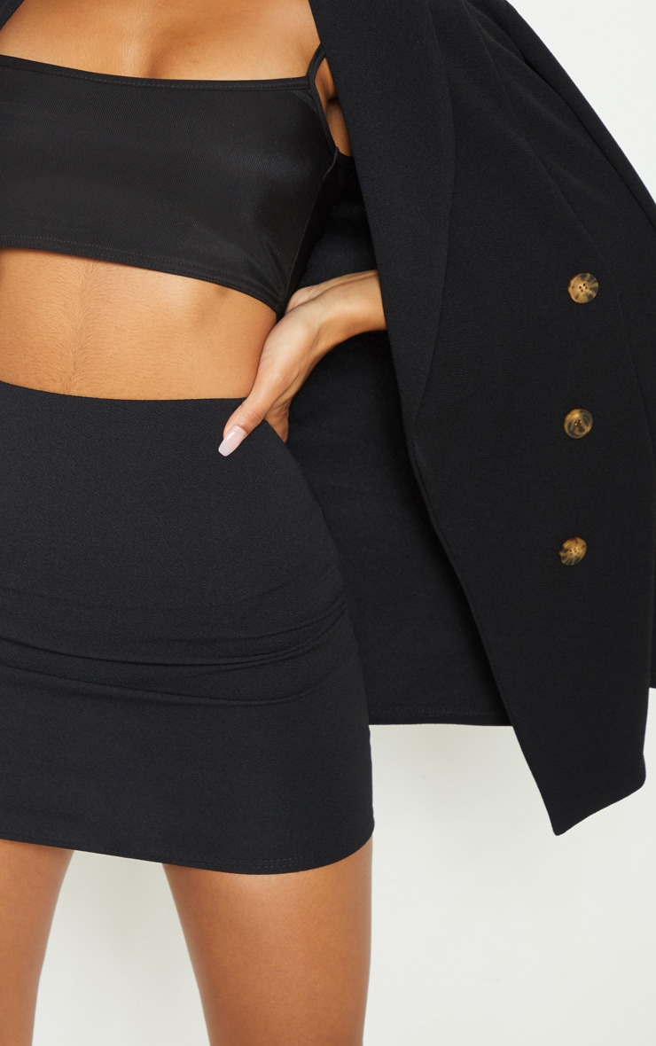 Black Mini Suit Skirt 6