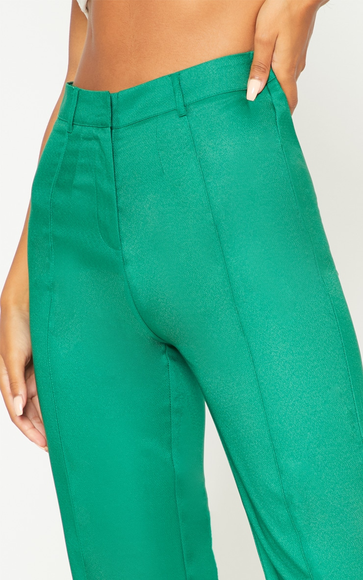 Green High Waisted Straight Leg Pants 5