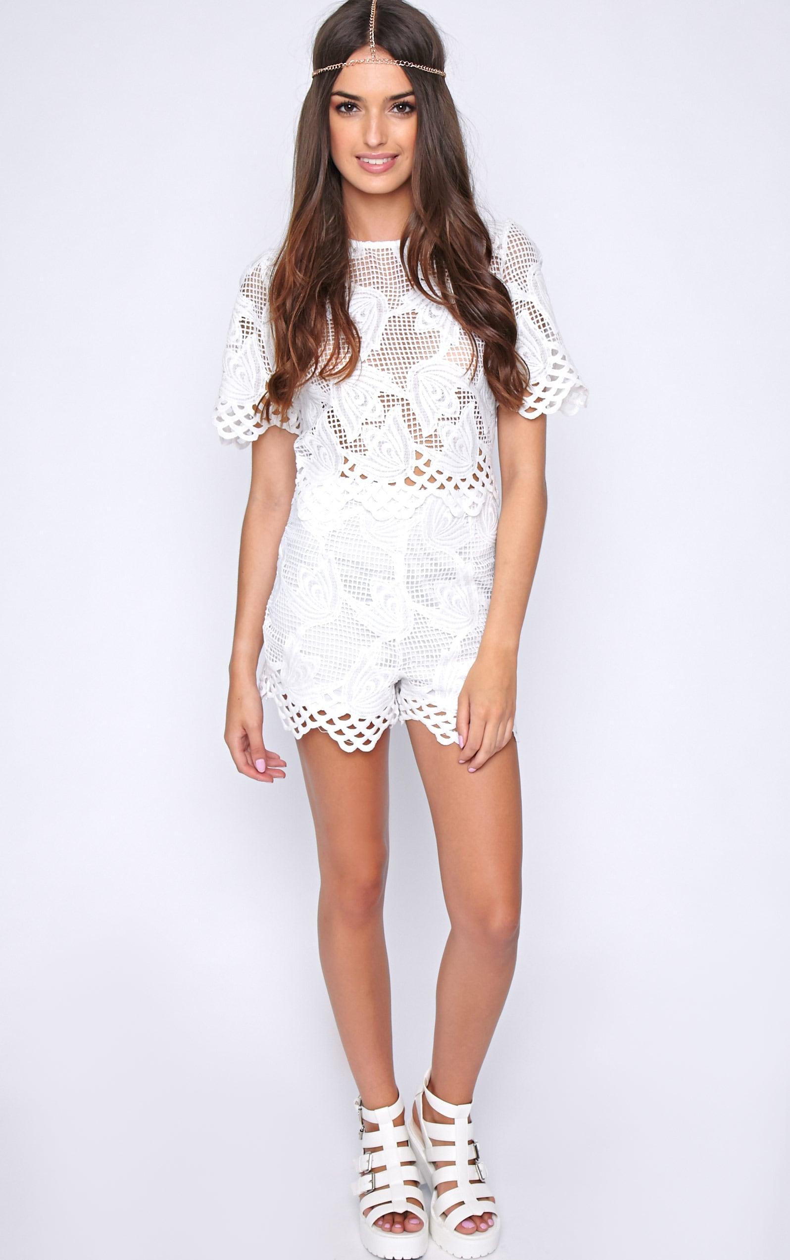 Fern White Crochet Boxy Crop 3