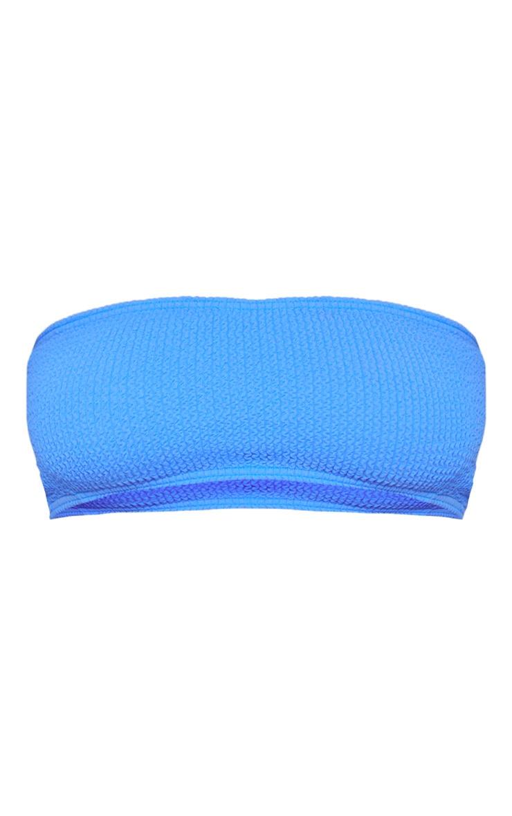 Haut de maillot bandeau bleu froncé 3