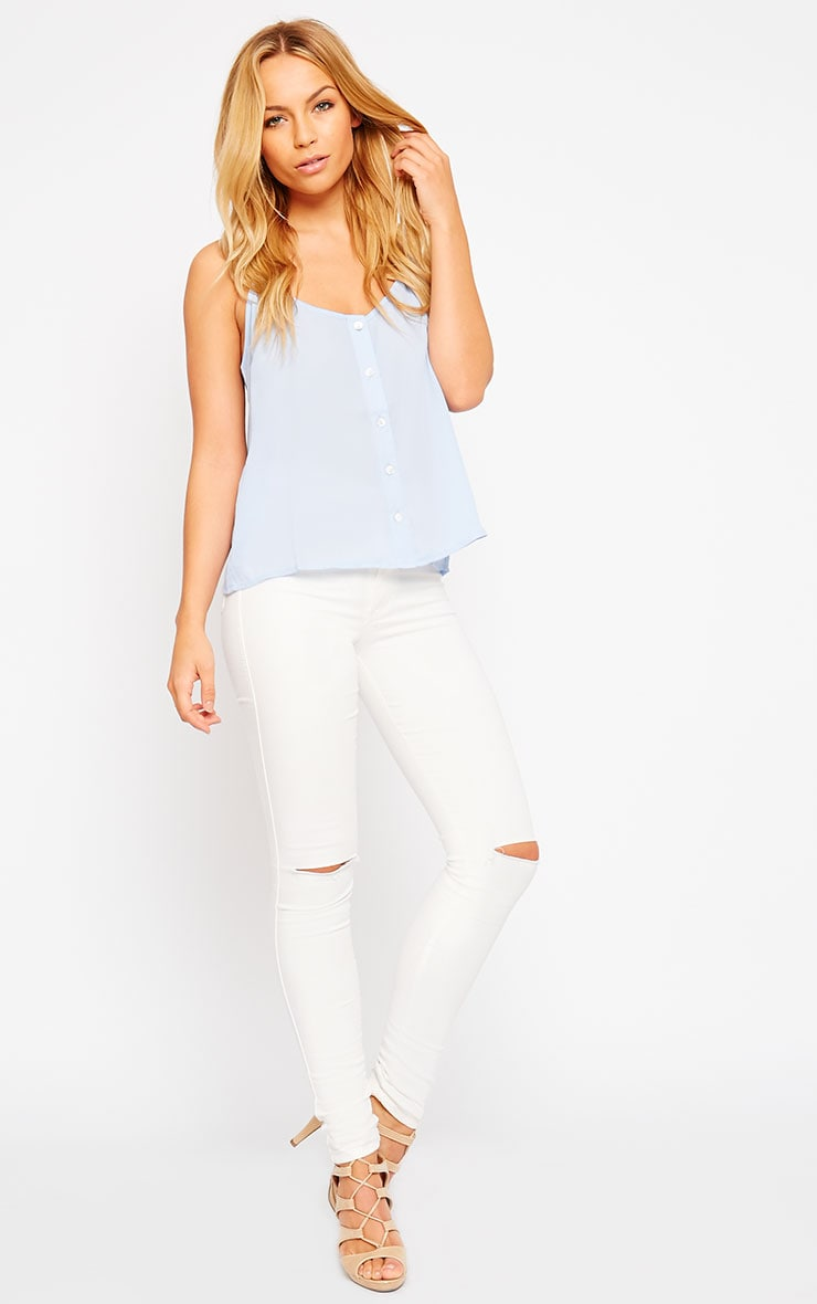 Mara Powder Blue Button Up Cami 3