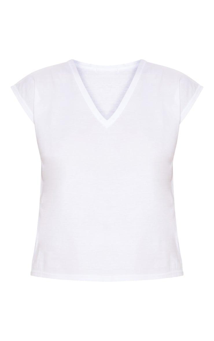 Basic White  V Neck Vest 3