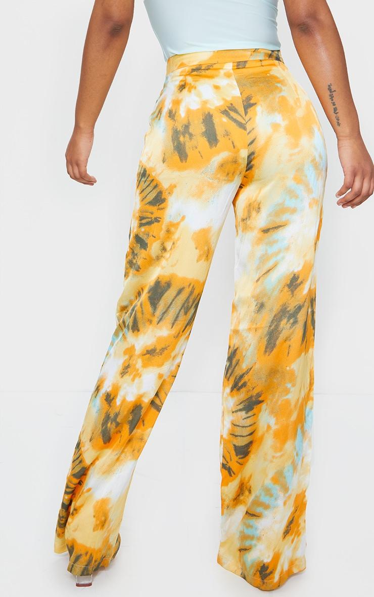 Orange Tie Dye Wide Leg Trousers 3