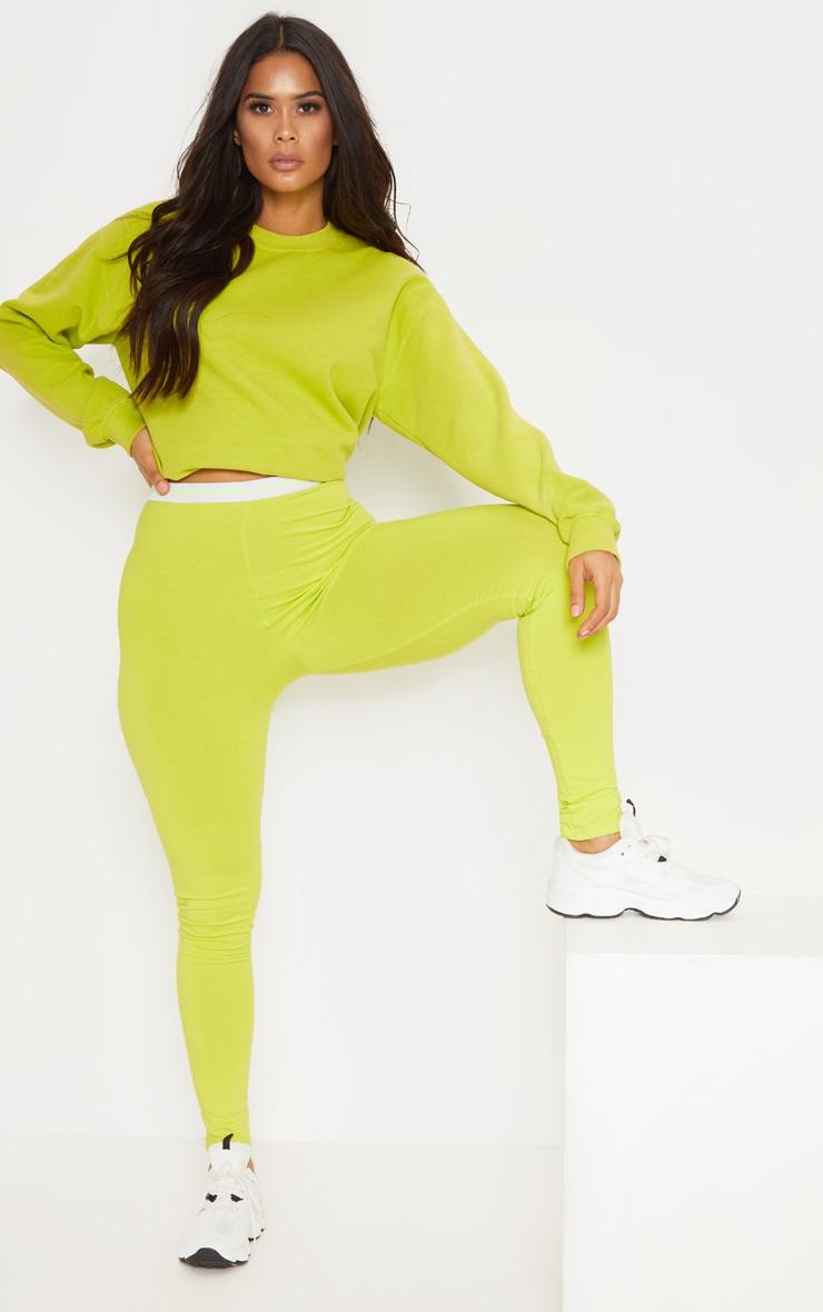 PRETTYLITTLETHING Lime Leggings