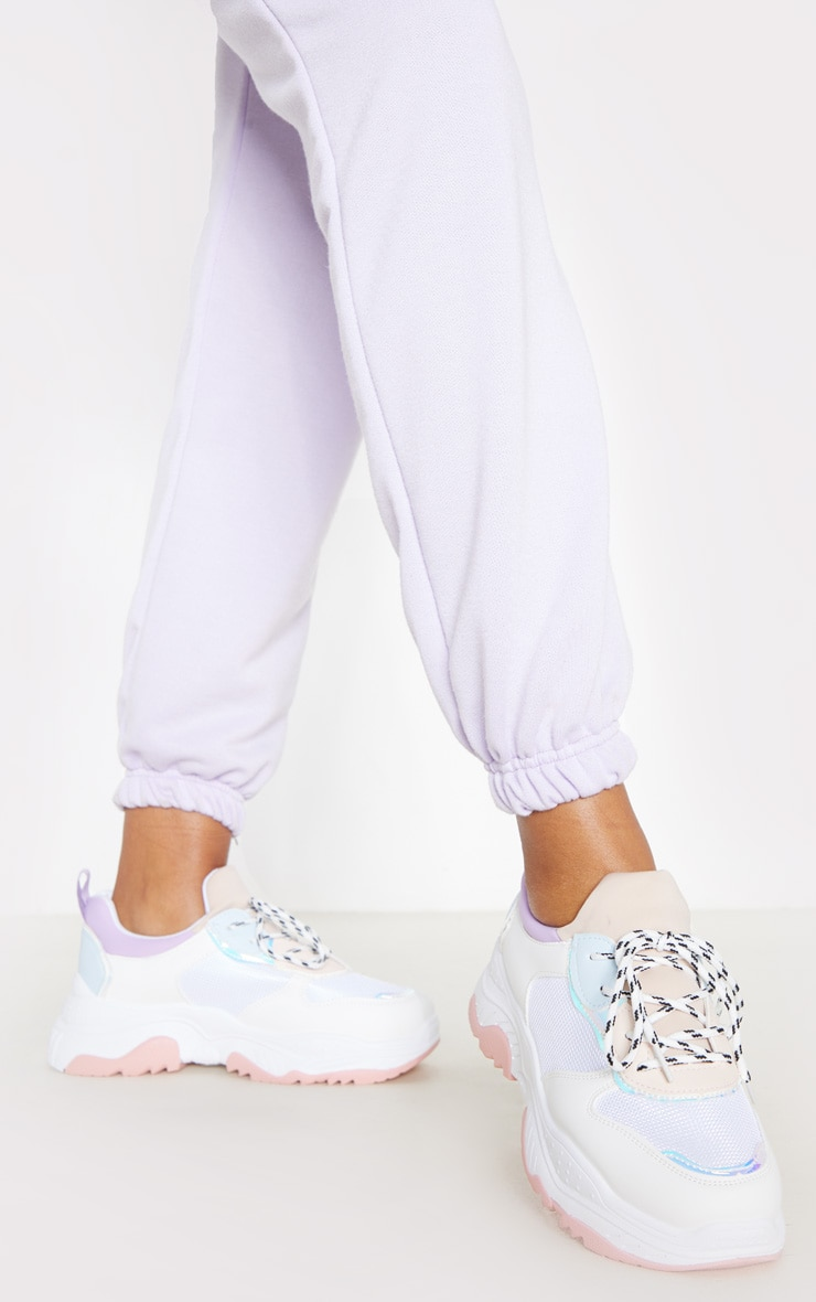 Lilac Pastel Chunky Trainer 2