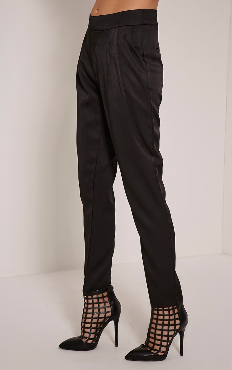 Floss Black High Waisted Tapered Trousers 3