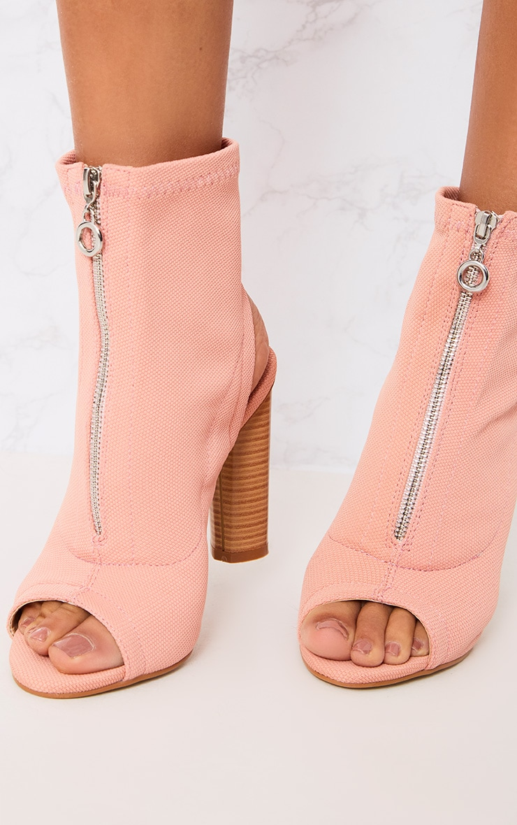 Gebriel Blush Ring Zip Sock Boots 5
