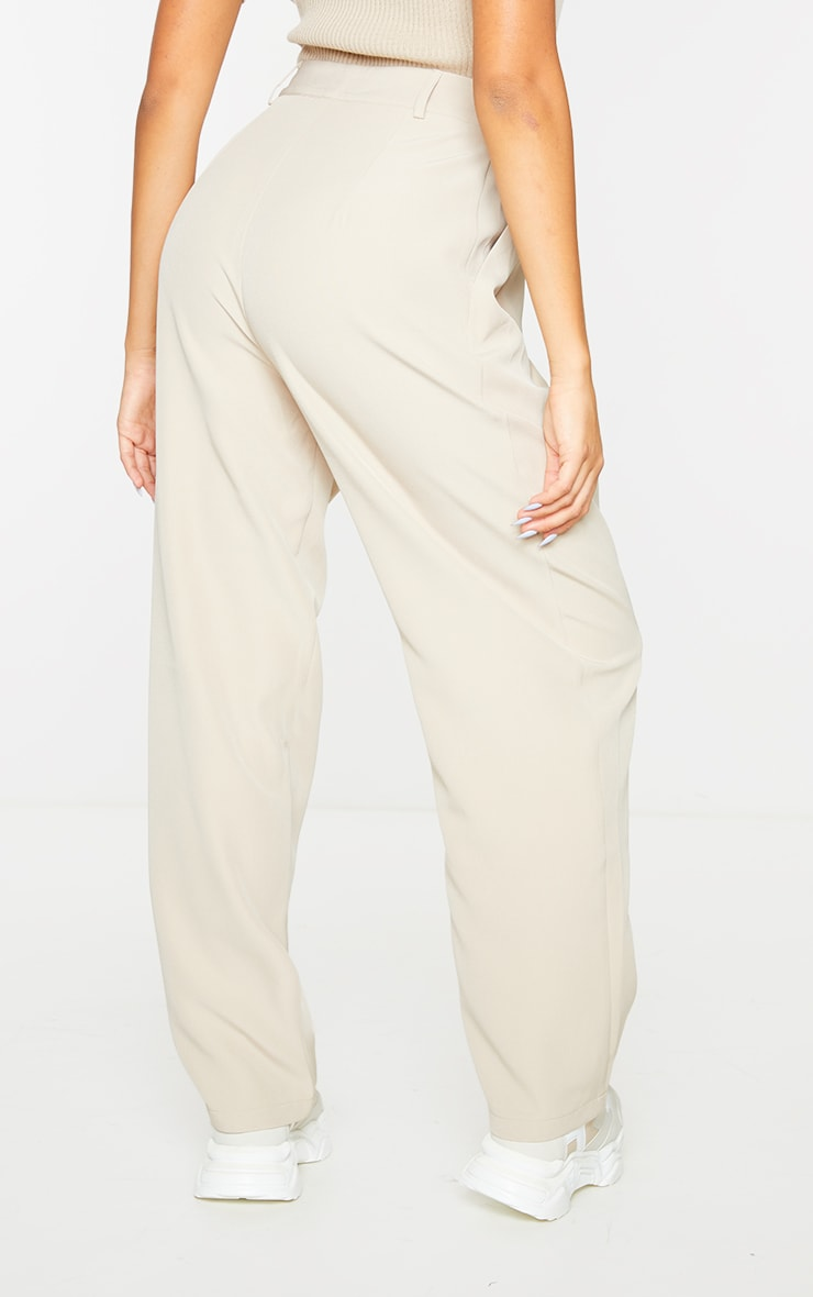 Stone Woven High Waisted Cigarette Pant 3