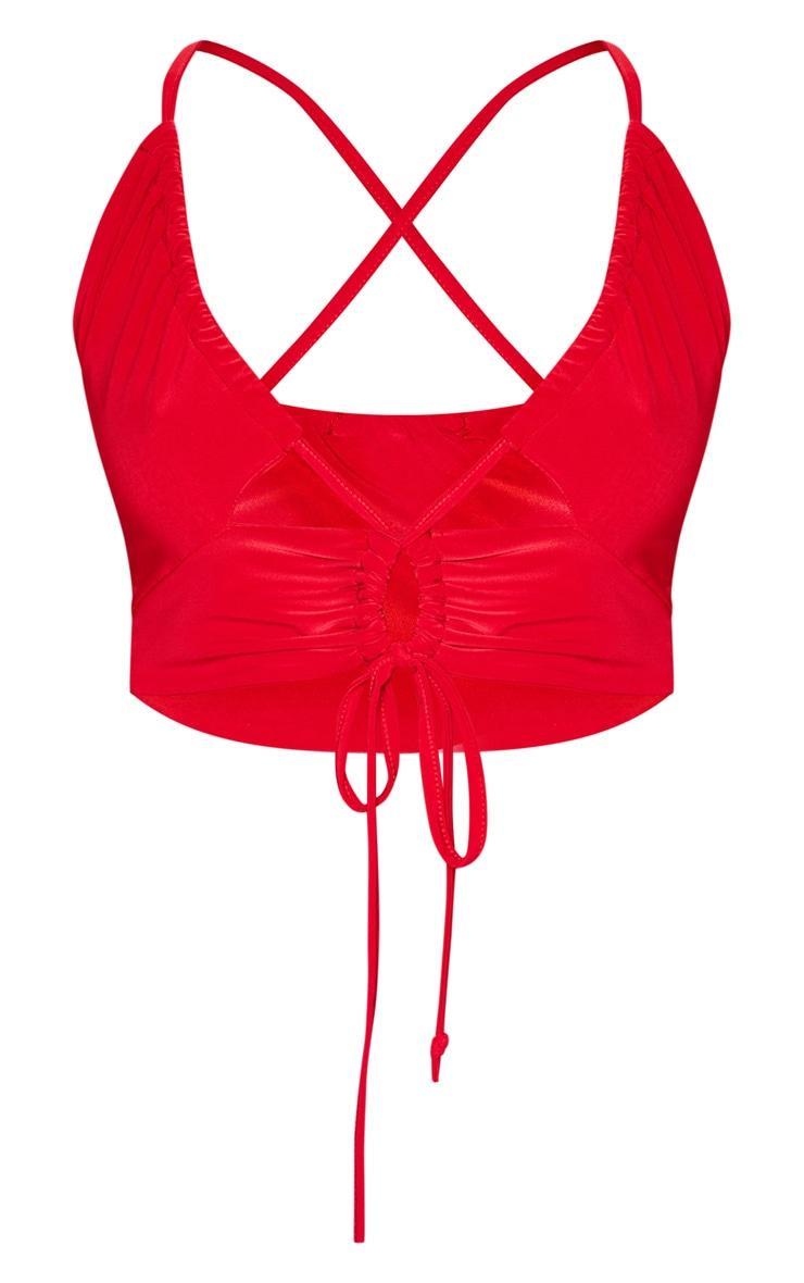 Red Slinky Strappy Bralet 3