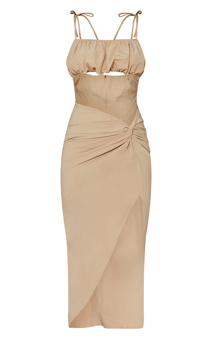 Stone Strappy Cut Out Knotted Skirt Midaxi Dress 5