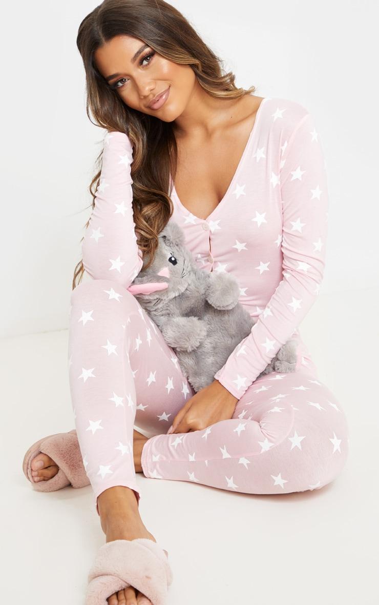 Baby Pink Star Print Onesie 5