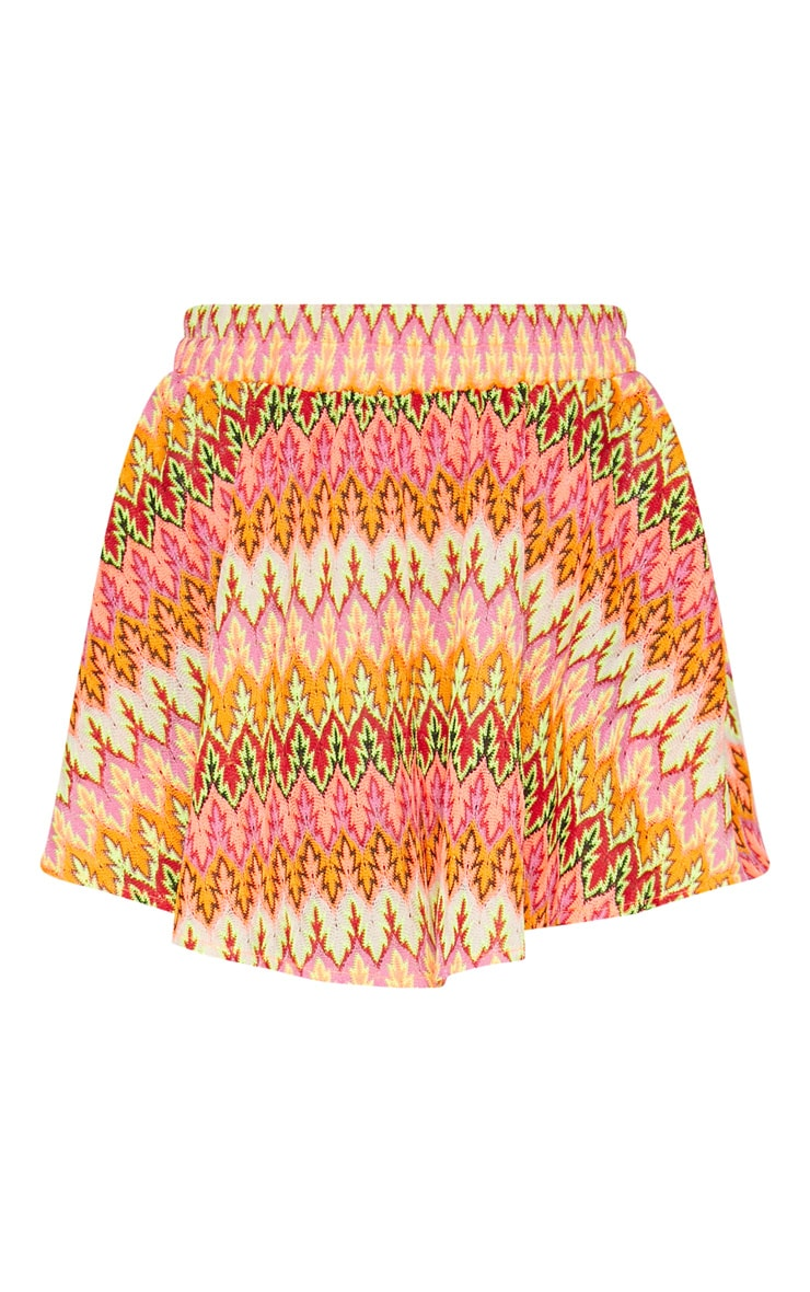 Burnt Orange Chevron Floaty Short 3