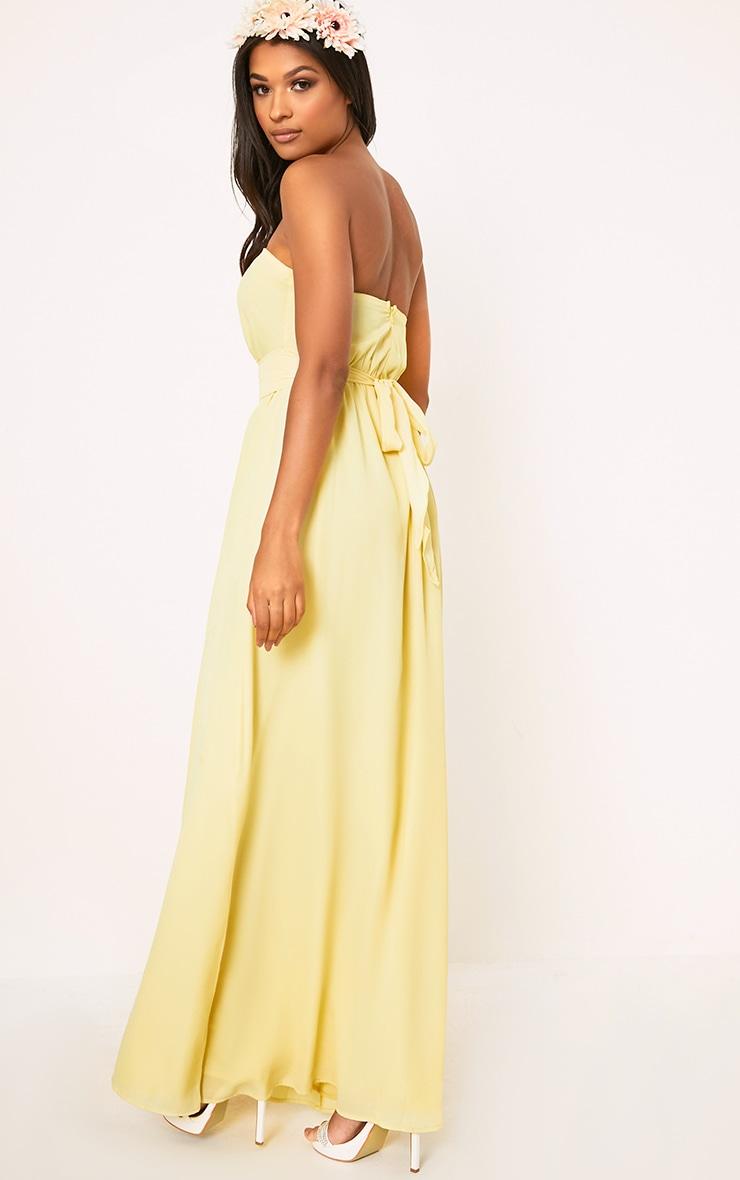 Lainey Lemon Bandeau Maxi Dress  2