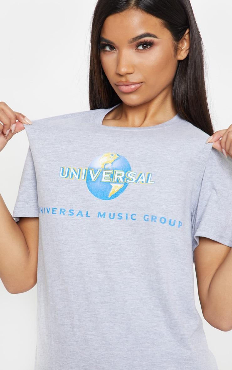 Grey Universal Slogan Oversized T Shirt 5