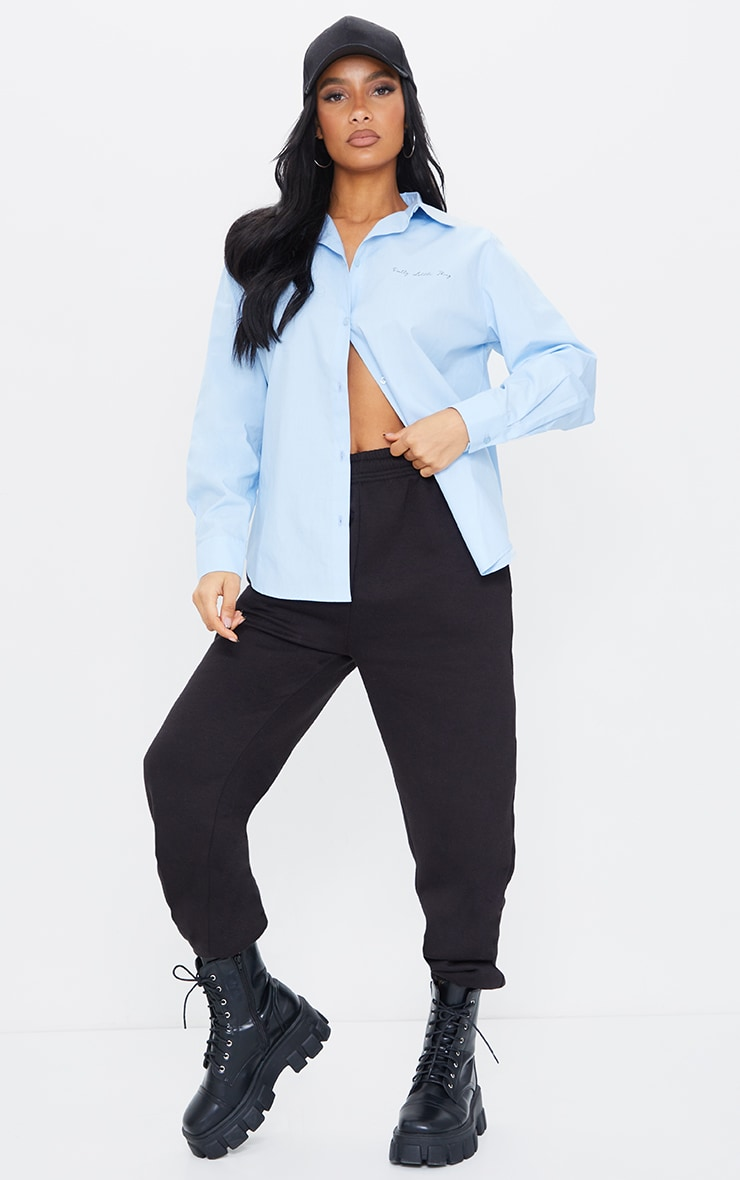 PRETTYLITTLETHING Ice Blue Printed Shirt 3
