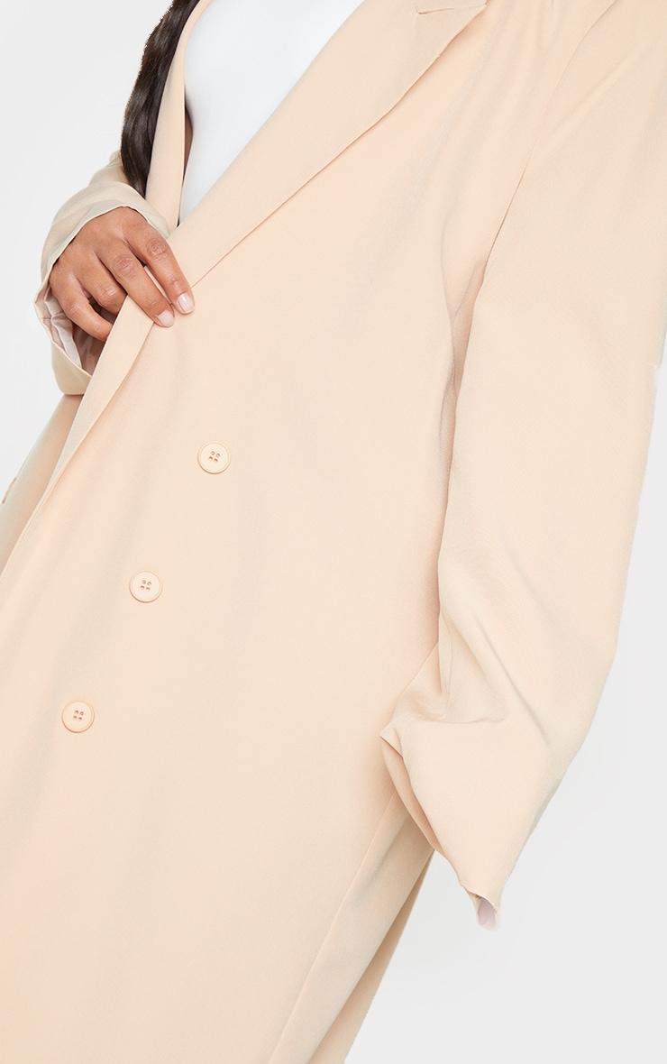 Plus Stone Button Detail Maxi Blazer 4