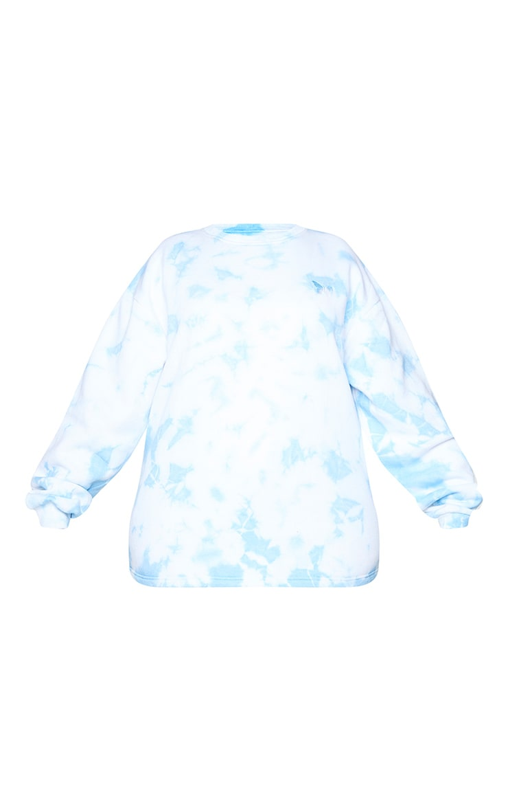 Plus Light Blue Butterfly Embroidered Sweater 5