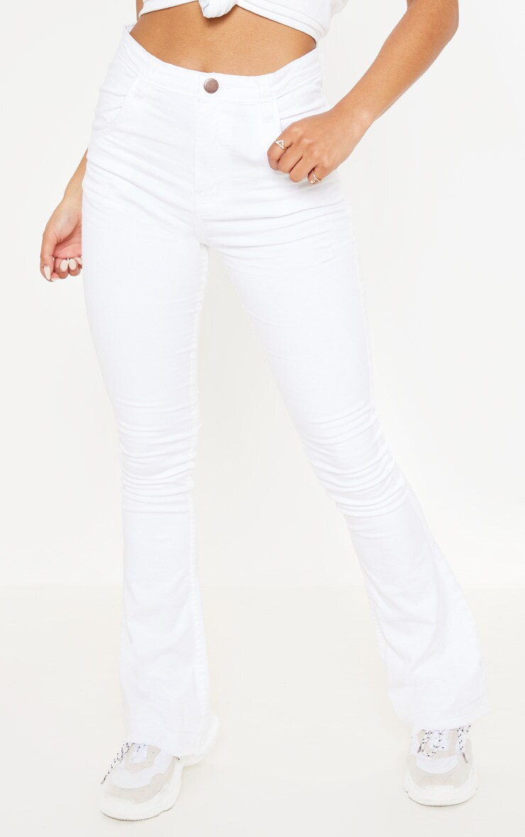 Flared White Jeans 2