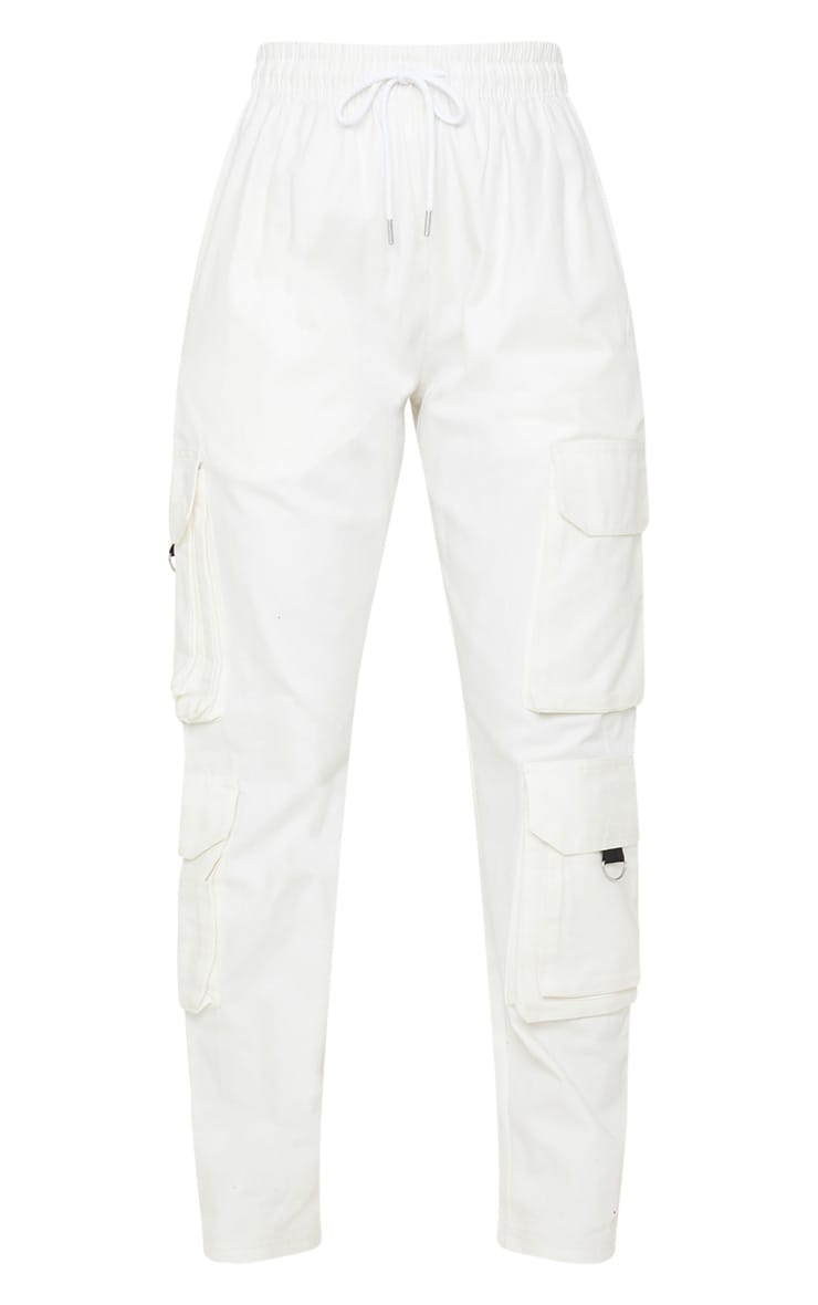 Cream Twill Oversized Utility Trouser 3