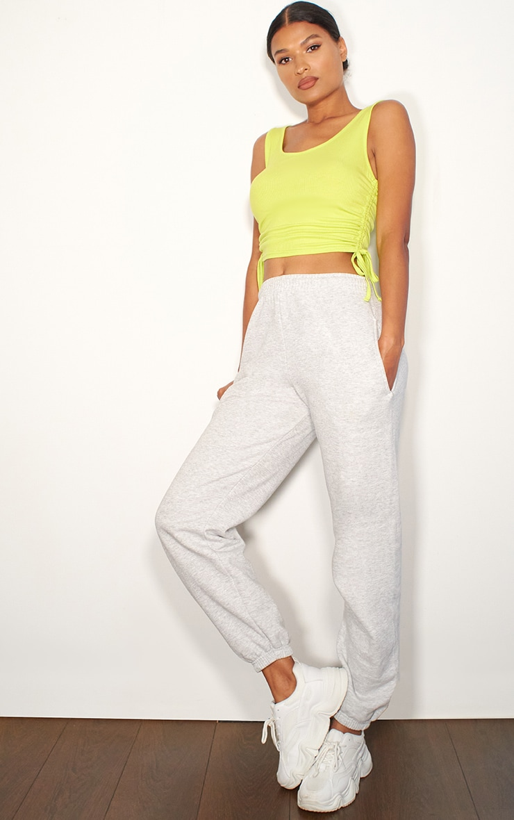 Lime Rib Ruched Side Vest Top 3