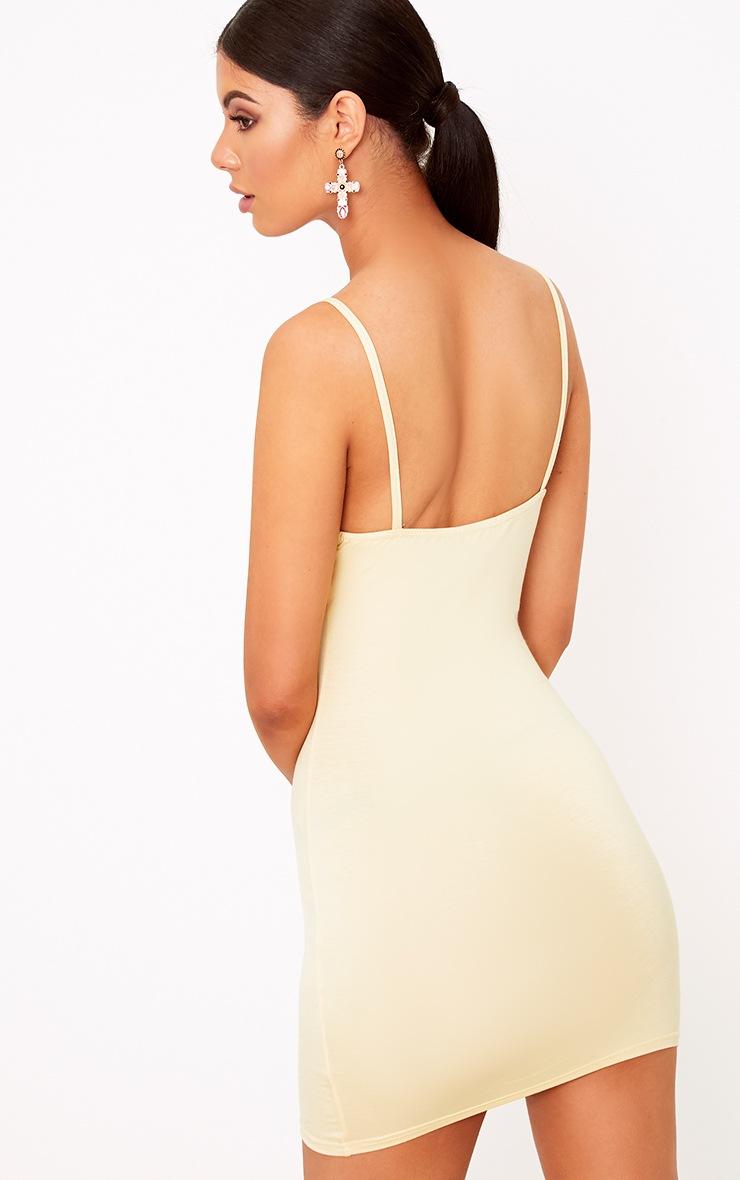 Riana Lemon Strap Detail Bodycon Dress 2