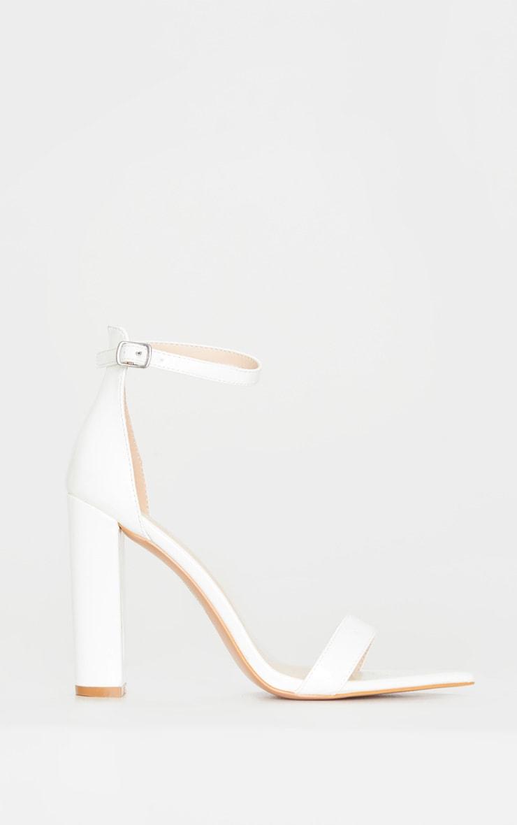 White Point Toe Block Heel Sandal 3