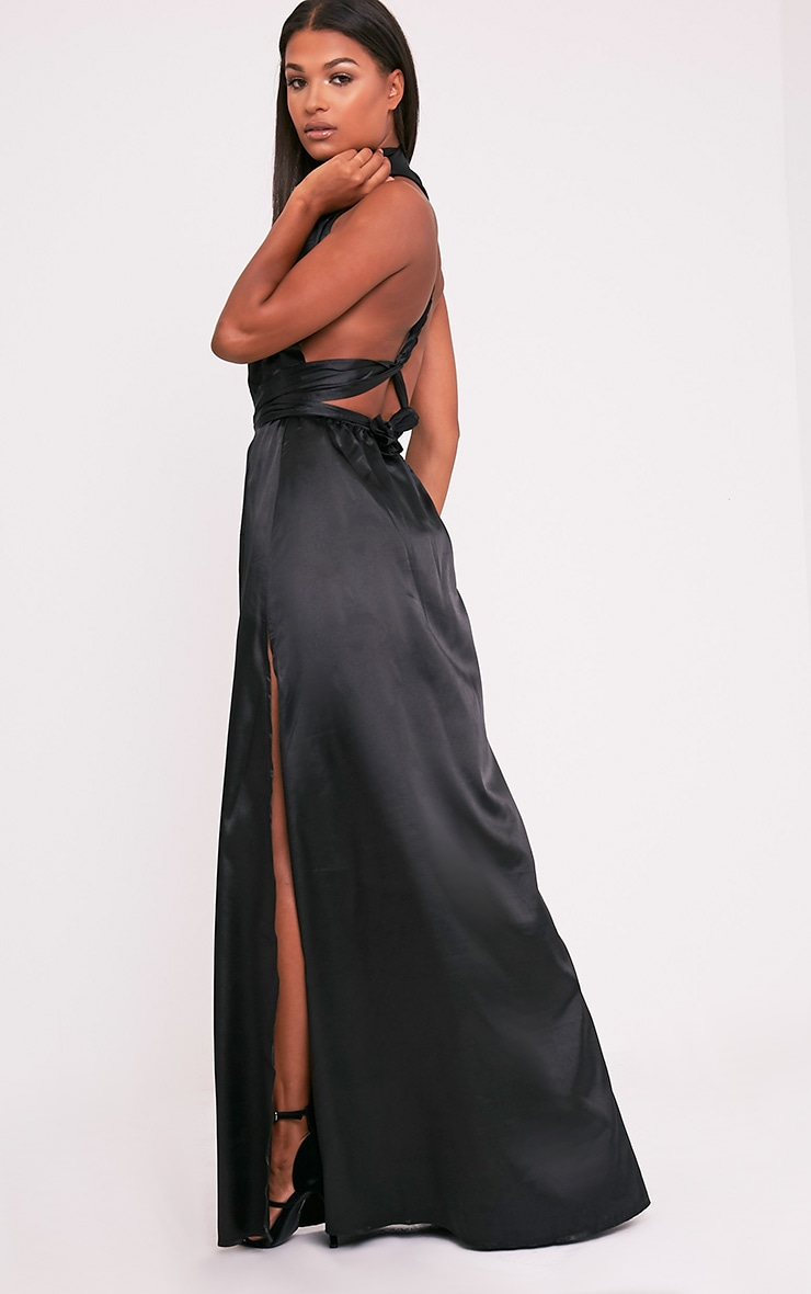 Miranda Black Silky Multiway Maxi 3