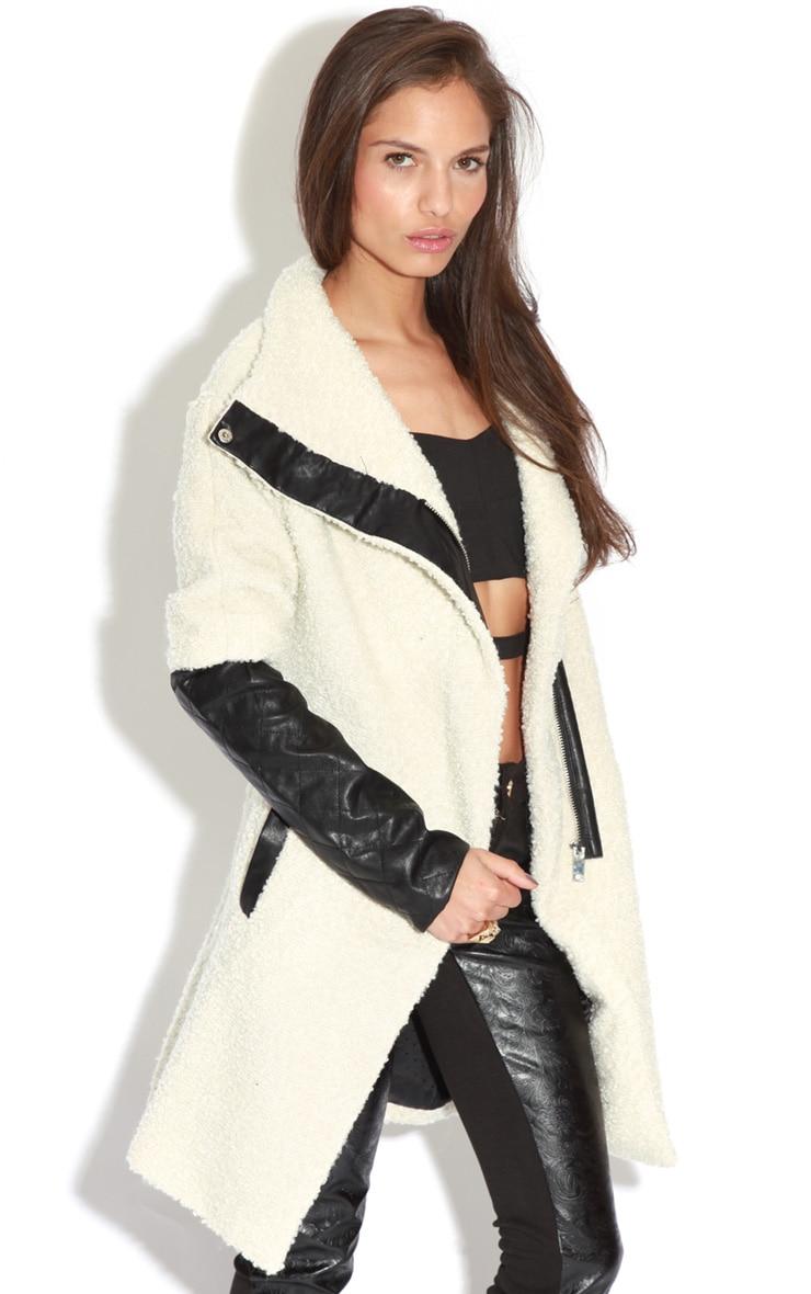 Becki Cream Slouch Coat  3