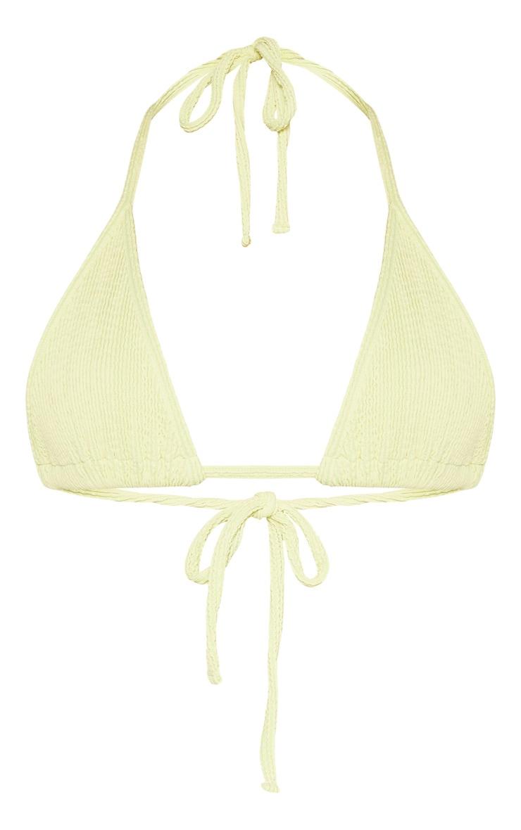 Sage Green Soft Crinkle Triangle Bikini Top 6