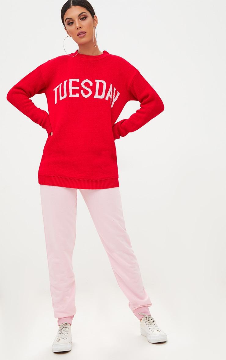 Red Tuesday Slogan Jumper 4