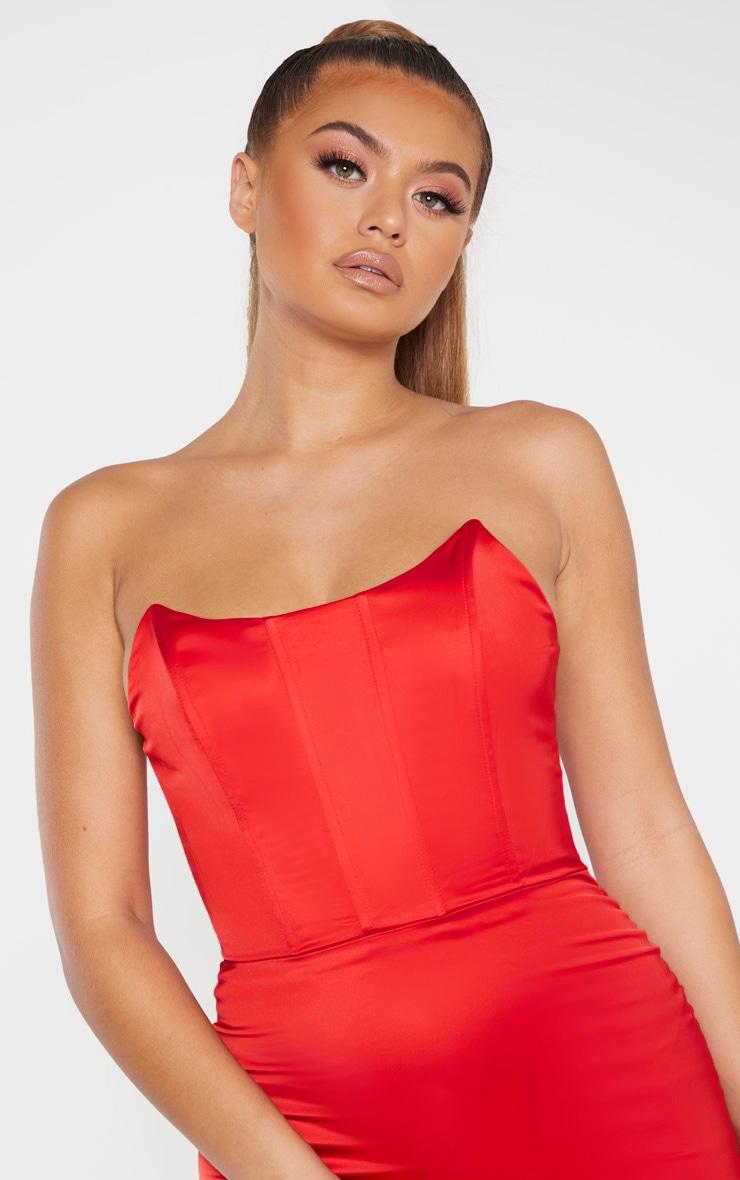Scarlet Boning Detail Bandeau Midi Dress 5