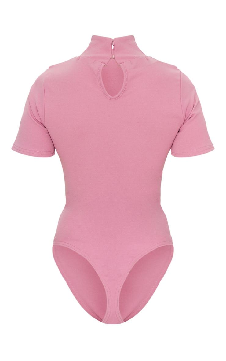 Petite Mauve Crepe Oriental Bodysuit 7