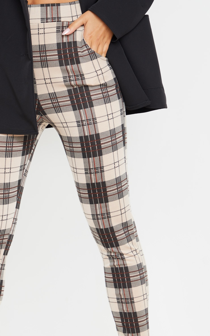 Stone Checked Skinny Pants 5