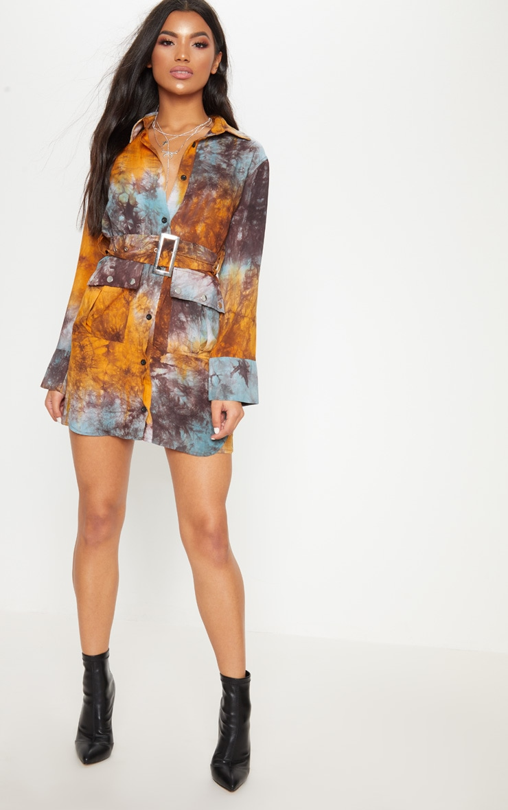 Multi Acid Wash Shirt Dress 4