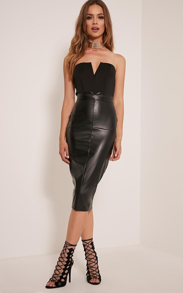 Cassandra body-string bandeau noir à devant en V 4
