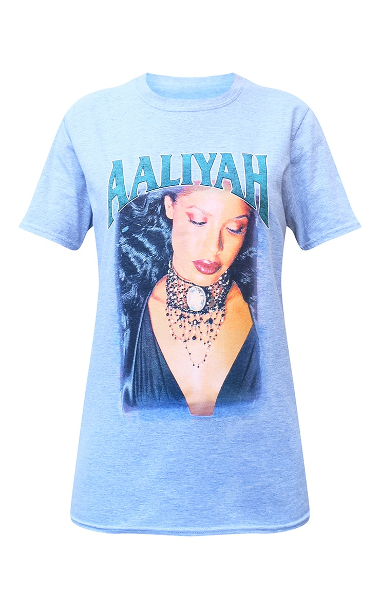 Grey Aaliyah Printed T Shirt 5
